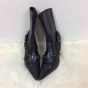 Steve Madden Shoes - Steven Steve Madden Leather Mid Calf Boots Sz 6M